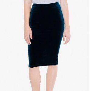 American apparel Blue Nile pencil skirt